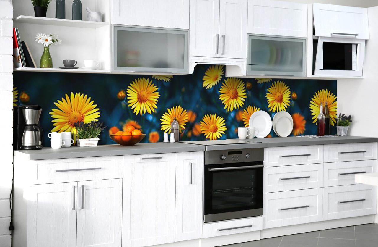 Скинали на кухню Zatarga «Солнечная улыбка» 600х2500 мм виниловая 3Д наклейка кухонный фартук самоклеящаяся