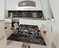 Наклейка 3Д виниловая на стол Zatarga «Записки мелом» 650х1200 мм для домов, квартир, столов, кофейн, кафе, фото 1
