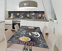 Наклейка 3Д виниловая на стол Zatarga «Кофеман» 650х1200 мм для домов, квартир, столов, кофейн, кафе, фото 1