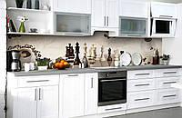 Скинали на кухню Zatarga «Утренняя партия» 650х2500 мм виниловая 3Д наклейка кухонный фартук самоклеящаяся, фото 1