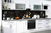 Скинали на кухню Zatarga «Вечер для двоих» 600х2500 мм виниловая 3Д наклейка кухонный фартук самоклеящаяся, фото 1