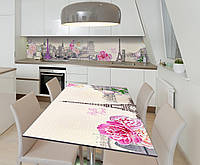 Наклейка 3Д виниловая на стол Zatarga «Привет, Париж!» 650х1200 мм для домов, квартир, столов, кофейн, кафе, фото 1
