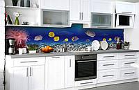 Скинали на кухню Zatarga «Тайны глубин» 600х2500 мм виниловая 3Д наклейка кухонный фартук самоклеящаяся, фото 1
