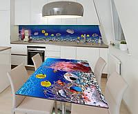 Наклейка 3Д виниловая на стол Zatarga «Тайны глубин» 600х1200 мм для домов, квартир, столов, кофейн, кафе, фото 1