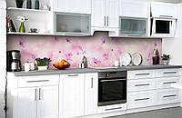 Скинали на кухню Zatarga «Розовые грёзы» 600х2500 мм виниловая 3Д наклейка кухонный фартук самоклеящаяся, фото 1