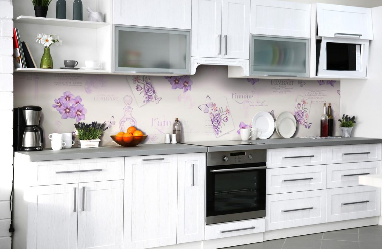 Скинали на кухню Zatarga «Признание в любви» 600х2500 мм виниловая 3Д наклейка кухонный фартук самоклеящаяся