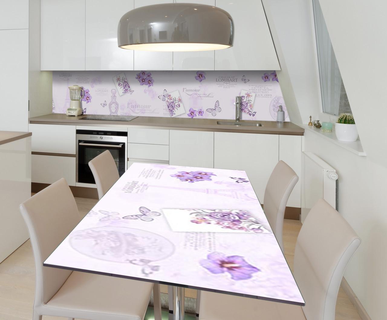 Наклейка 3Д виниловая на стол Zatarga «Признание в любви» 650х1200 мм для домов, квартир, столов, кофейн, кафе