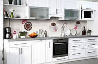 Скинали на кухню Zatarga «Парижский кофе» 650х2500 мм виниловая 3Д наклейка кухонный фартук самоклеящаяся, фото 1