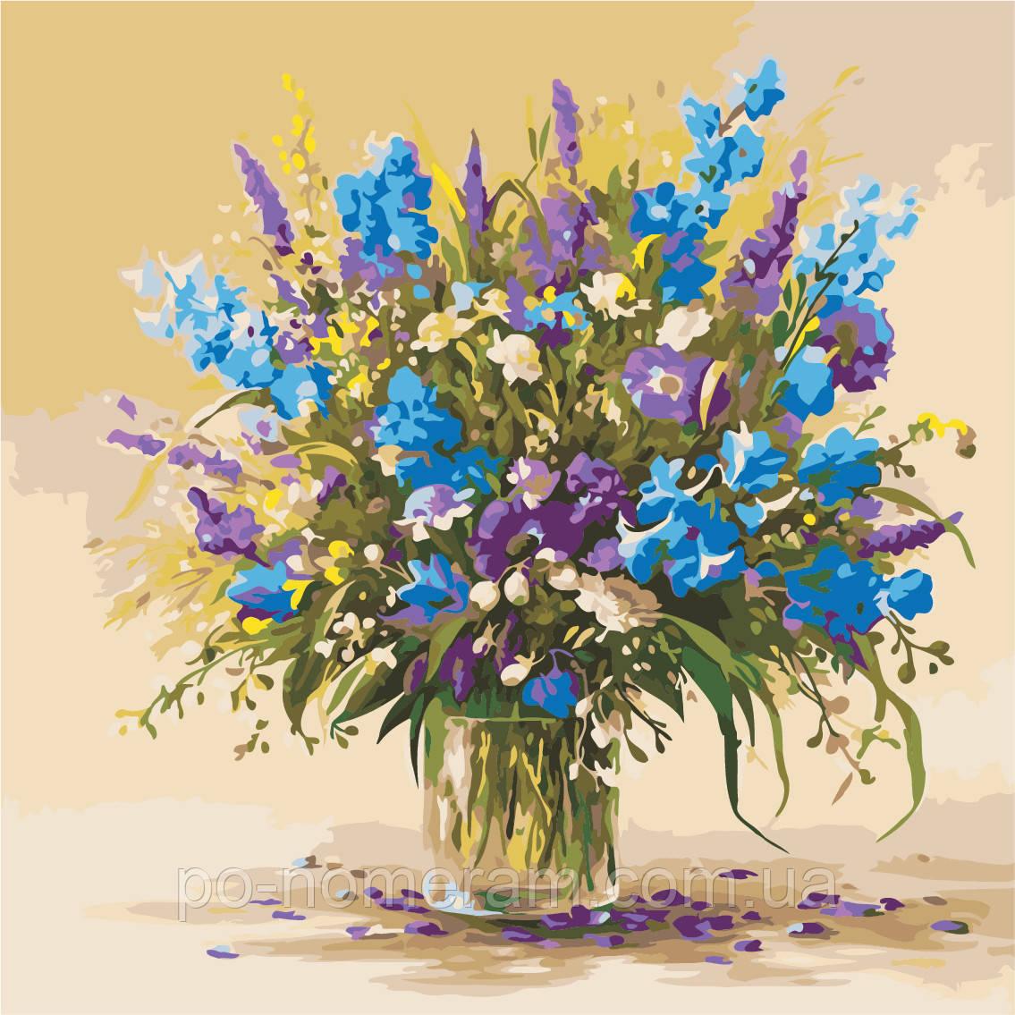 Картина по номерам ArtStory Букет полевых цветов (AS0945) 40 х 40 см (Без коробки)