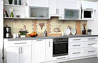 Скинали на кухню Zatarga «Кухонные виньетки» 600х3000 мм виниловая 3Д наклейка кухонный фартук самоклеящаяся, фото 1