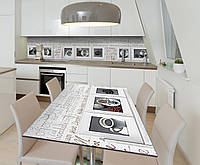 Наклейка 3Д виниловая на стол Zatarga «Музей кофе» 650х1200 мм для домов, квартир, столов, кофейн, кафе, фото 1