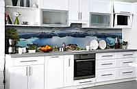 Скинали на кухню Zatarga «Чарующая высота» 650х2500 мм виниловая 3Д наклейка кухонный фартук самоклеящаяся, фото 1