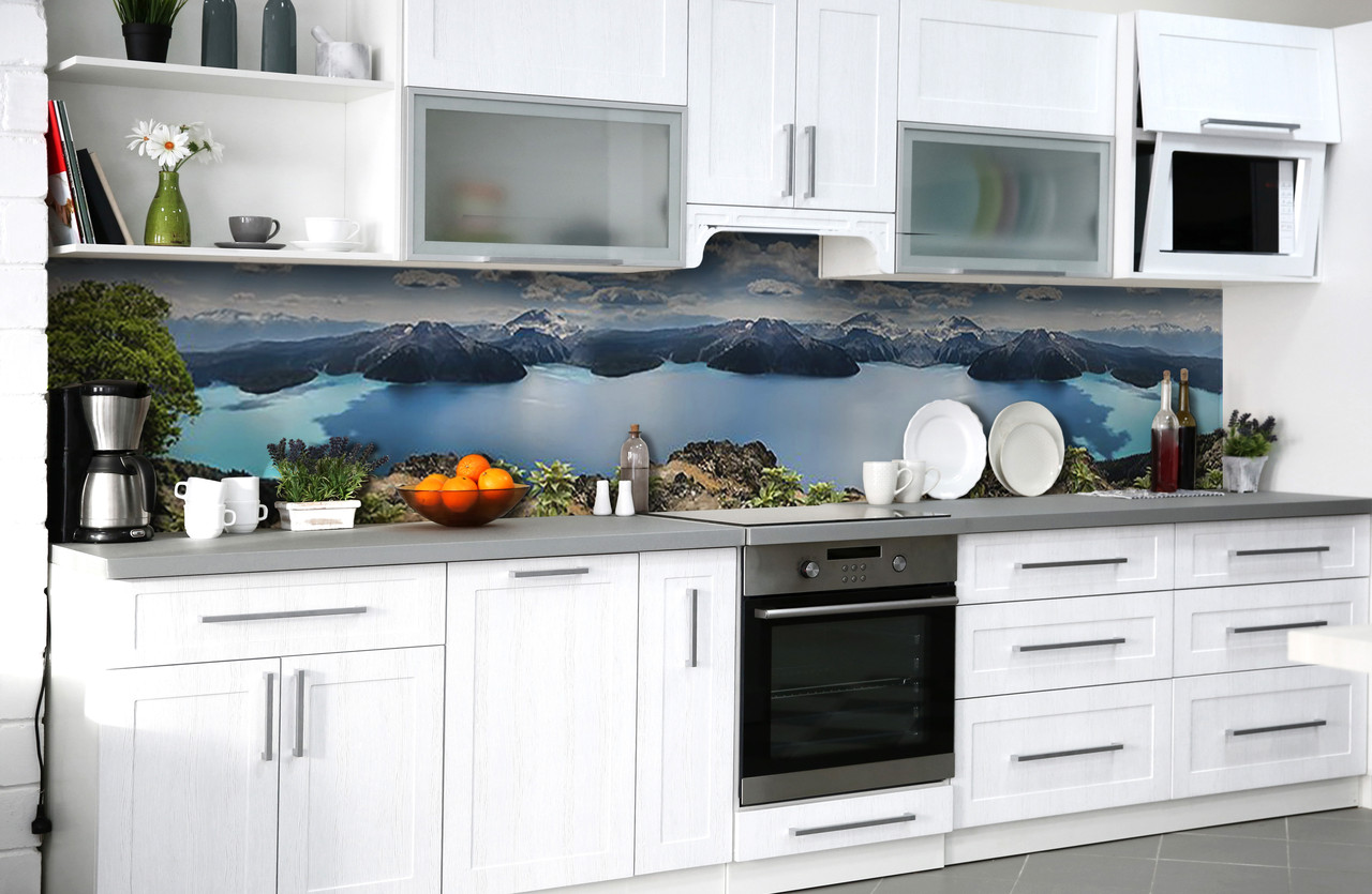 Скинали на кухню Zatarga «Чарующая высота» 600х3000 мм виниловая 3Д наклейка кухонный фартук самоклеящаяся