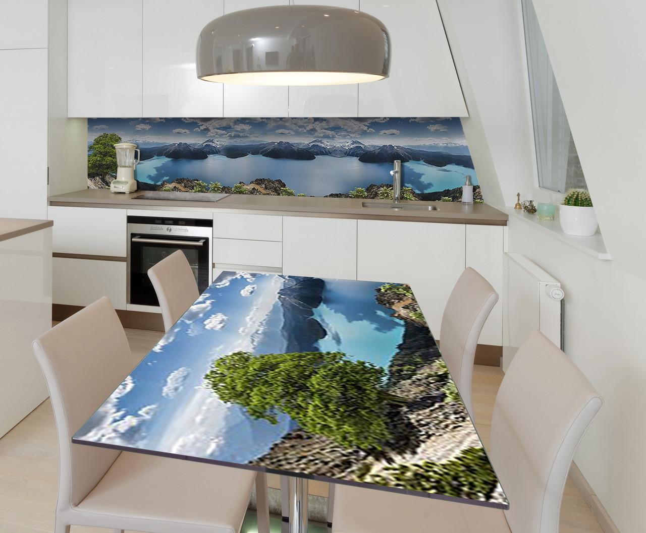 Наклейка 3Д виниловая на стол Zatarga «Чарующая высота» 600х1200 мм для домов, квартир, столов, кофейн, кафе