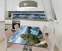 Наклейка 3Д виниловая на стол Zatarga «Чарующая высота» 650х1200 мм для домов, квартир, столов, кофейн, кафе, фото 1