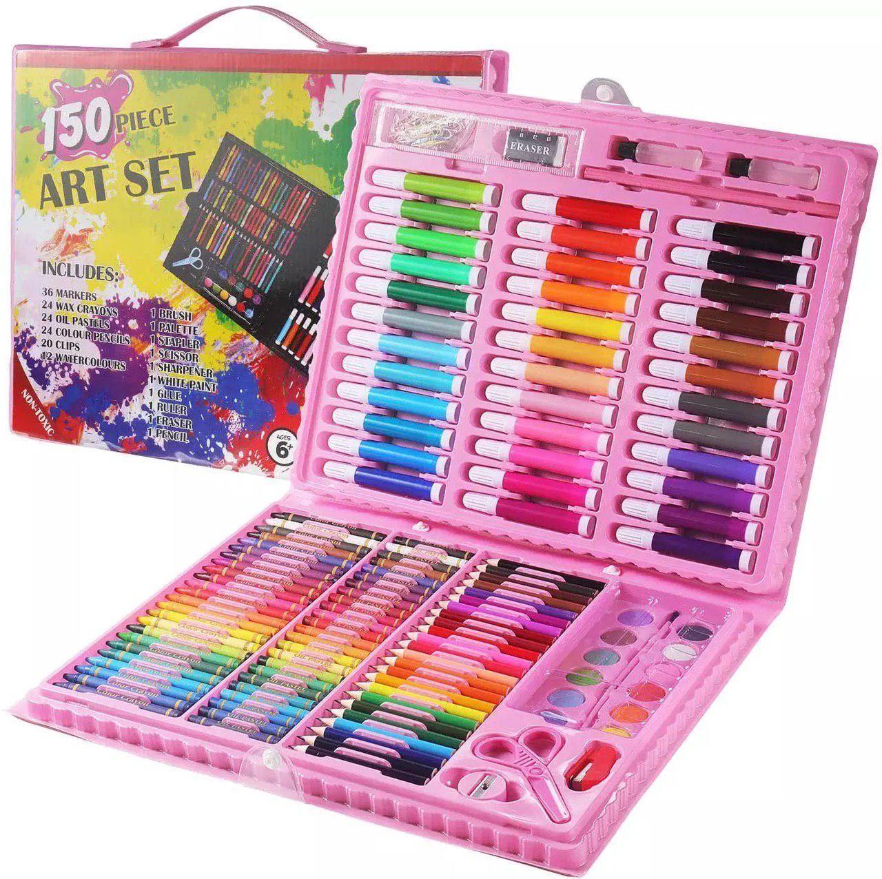 Набор для детского творчества в чемодане из 150 предметов, детский набор для рисования