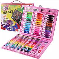 Набор для детского творчества в чемодане из 150 предметов, детский набор для рисования, фото 1