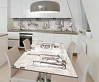Наклейка 3Д виниловая на стол Zatarga «Английский фуршет» 650х1200 мм для домов, квартир, столов, кофейн, кафе, фото 1