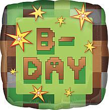 "Фольгована кулька квадрат B-Day Minecraft Майнкрафт  ""Вечірка динаміт"" 18"" Anagram"