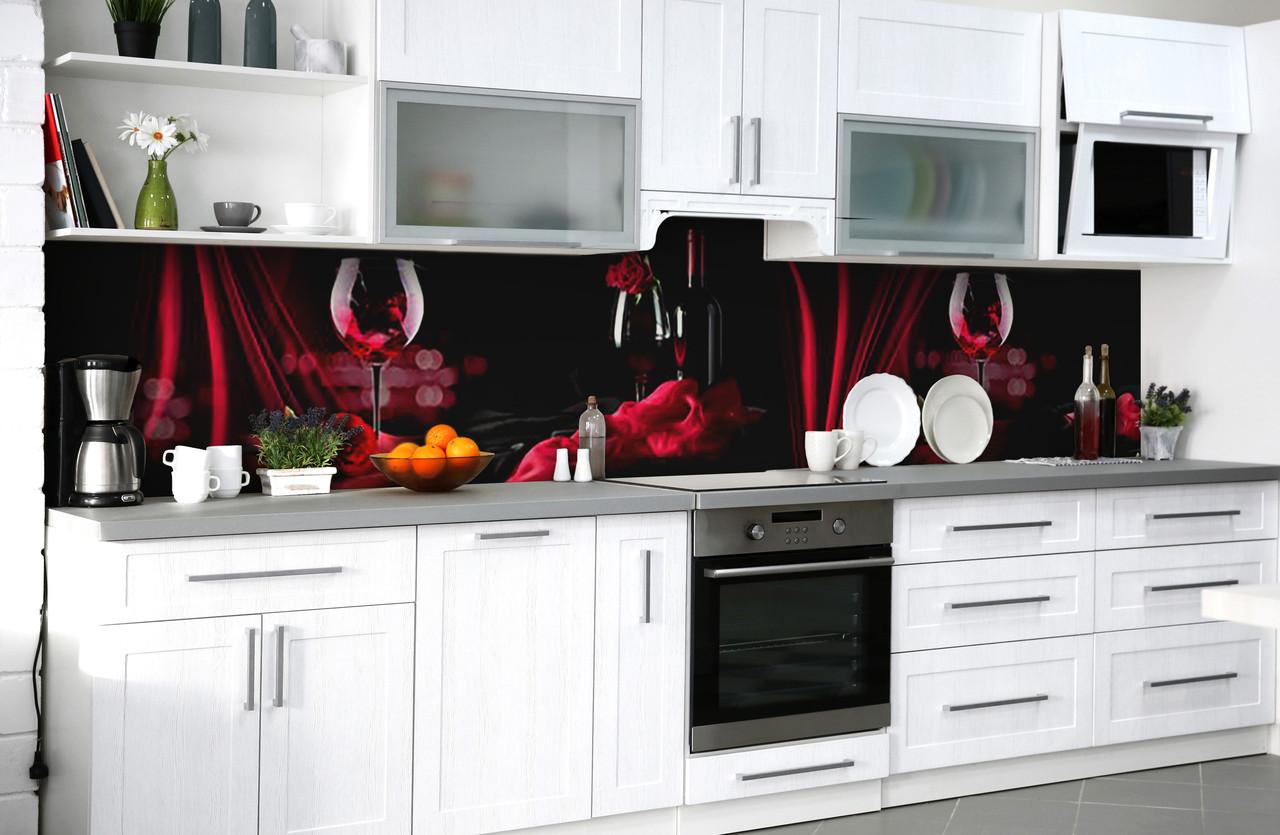 Скинали на кухню Zatarga «Страстный бархат» 650х2500 мм виниловая 3Д наклейка кухонный фартук самоклеящаяся