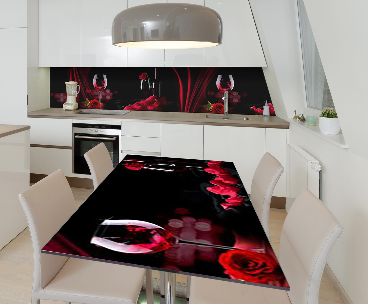 Наклейка 3Д виниловая на стол Zatarga «Страстный бархат» 650х1200 мм для домов, квартир, столов, кофейн, кафе