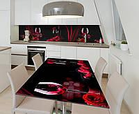 Наклейка 3Д виниловая на стол Zatarga «Страстный бархат» 650х1200 мм для домов, квартир, столов, кофейн, кафе, фото 1