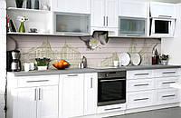 Скинали на кухню Zatarga «Силуеты старого города» 600х2500 мм виниловая 3Д наклейка кухонный фартук, фото 1