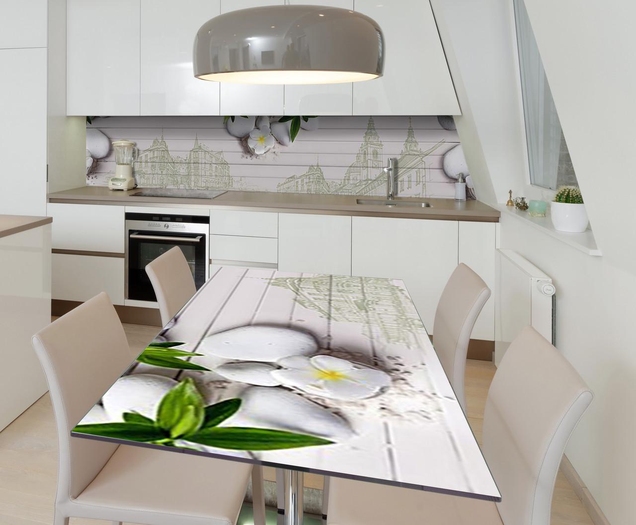 Наклейка 3Д виниловая на стол Zatarga «Силуеты старого города» 650х1200 мм для домов, квартир, столов, кофейн,