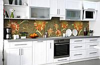 Скинали на кухню Zatarga «Солнечное панно» 650х2500 мм виниловая 3Д наклейка кухонный фартук самоклеящаяся, фото 1