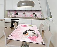 Наклейка 3Д виниловая на стол Zatarga «Радость нового дня» 600х1200 мм для домов, квартир, столов, кофейн,, фото 1