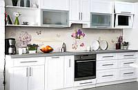 Скинали на кухню Zatarga «Букеты любви» 600х3000 мм виниловая 3Д наклейка кухонный фартук самоклеящаяся, фото 1