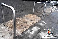 """Велопарковки велосипедные стационарные """"Сатин"""" из нержавеющей стали, с отдельно стоящими секциями, фото 1"""