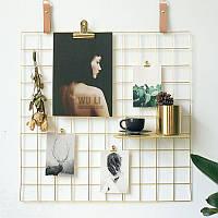 Металлическая сетка декор фоторамка Мудборд для фото на стену