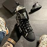 Женские кроссовки Dior B23 High-Top Sneakers Black, женские кроссовки диор б23 хайтоп, фото 2