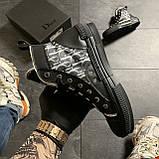 Женские кроссовки Dior B23 High-Top Sneakers Black, женские кроссовки диор б23 хайтоп, фото 5