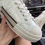 Женские кроссовки Dior B23 Low-Top Sneakers White, женские кроссовки диор б23 лов топ, фото 4