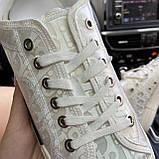 Женские кроссовки Dior B23 Low-Top Sneakers White, женские кроссовки диор б23 лов топ, фото 5