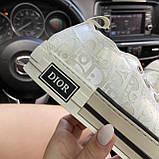 Женские кроссовки Dior B23 Low-Top Sneakers White, женские кроссовки диор б23 лов топ, фото 6