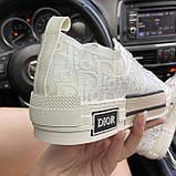 Женские кроссовки Dior B23 Low-Top Sneakers White, женские кроссовки диор б23 лов топ, фото 7