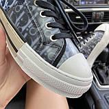 Женские кроссовки Dior B23 Low-Top Sneakers Black, женские кроссовки диор б23 лов топ, фото 4