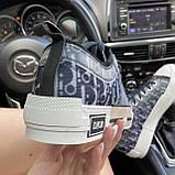 Женские кроссовки Dior B23 Low-Top Sneakers Black, женские кроссовки диор б23 лов топ, фото 6