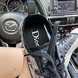 Женские кроссовки Dior B23 Low-Top Sneakers Black, женские кроссовки диор б23 лов топ, фото 7