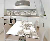 Наклейка 3Д виниловая на стол Zatarga «Городские окраины» 650х1200 мм для домов, квартир, столов, кофейн, кафе, фото 1