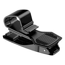 Автомобильный держатель для смартфонов и навигаторов Baseus Mouth Car Mount Black (SUDZ-01), фото 3