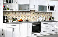 Скинали на кухню Zatarga «Стеклянные колбы» 600х3000 мм виниловая 3Д наклейка кухонный фартук самоклеящаяся