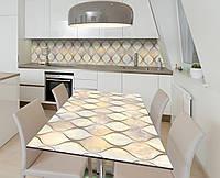 Наклейка 3Д виниловая на стол Zatarga «Стеклянные колбы» 600х1200 мм для домов, квартир, столов, кофейн, кафе