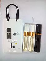Подарочный парфюмерный набор с феромонами мужской Paco Rabanne Black XS (Пако Рабанн Блэк ИксЭс) 3x15 мл