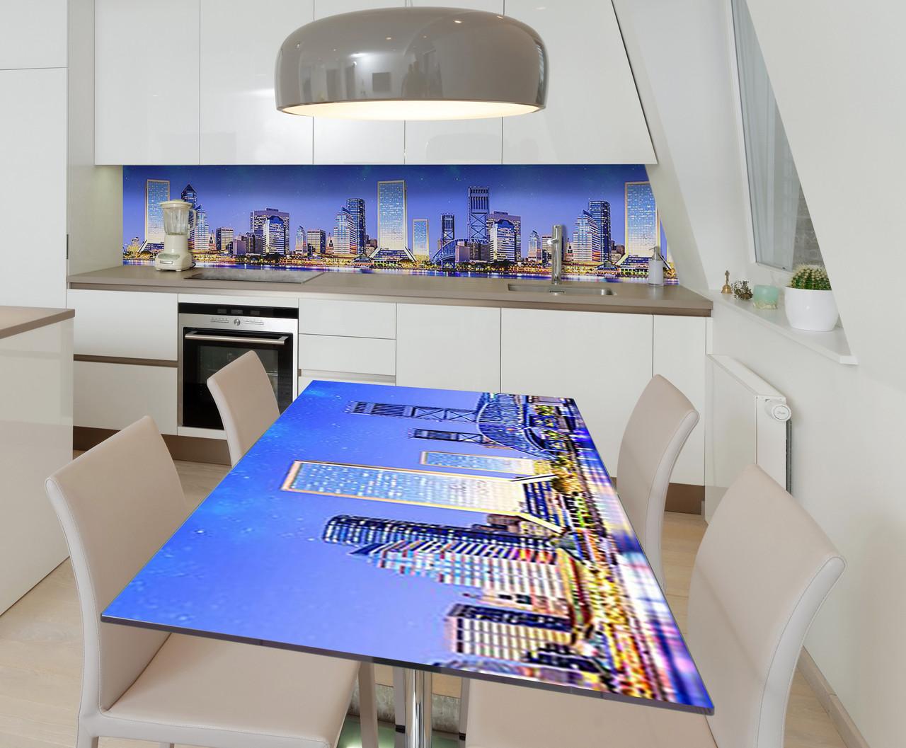 Наклейка 3Д виниловая на стол Zatarga «Вечер в Сиднее» 650х1200 мм для домов, квартир, столов, кофейн, кафе