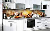 Скинали на кухню Zatarga «Завтрак в постель» 650х2500 мм виниловая 3Д наклейка кухонный фартук самоклеящаяся