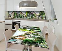 Наклейка 3Д виниловая на стол Zatarga «Улочки старого города» 650х1200 мм для домов, квартир, столов, кофейн,, фото 1